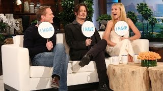 Ellen's Favorite Games: Never Have I Ever with Johnny Depp, Gwyneth Paltrow & Paul Bettany