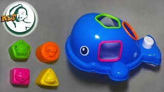 Learn shapes with B kids orca the whale -shape sorter bath toy for toddlers