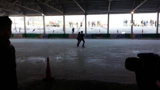 Aldrin and nishchay- ice skating