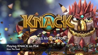 Playing KNACK on PS4