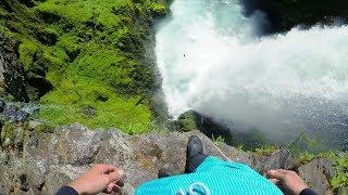 INSANE CLIFF JUMP!  *Nearly Drowns* 4K