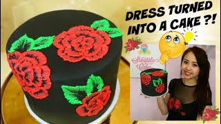 EASY Royal Icing Recipe for Cakes! Brush Embroidery Flower Cake