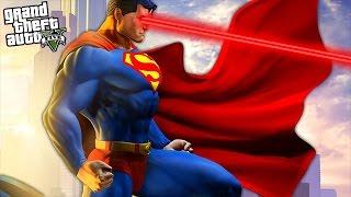 GTA 5 Mods - SUPERMAN MOD w/ SUPERMAN POWERS, SUPERGIRL, INCREDIBLE HULK FIGHT! (GTA 5 Mods)