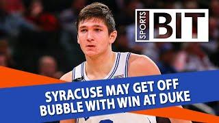 Syracuse Orange at Duke Blue Devils | Sports BIT | NCAAB Picks
