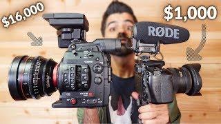 كاميرا 1,000$ vs كاميرا 16,000$ || انسرقت في آخر الفيديو :(
