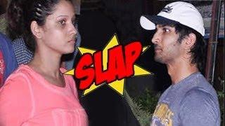 Sushant Singh SLAPPED by Girlfriend Ankita Lokhande in Public