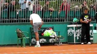Rafa Warm Up At Roland Garros 6/1/10