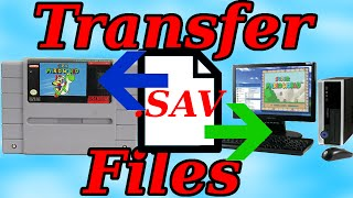 Transferring  SNES saves From a Real cart to your PC! (and vice versa)
