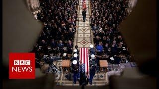 George HW Bush Funeral: Ceremony begins- BBC News