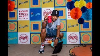 DJ Speedsta on the one's and two's Bacardi House Party Sessions