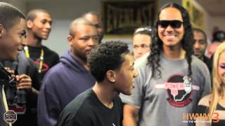 16 year old rapper Lil Sexxy vs Yung Pop rap battle | AHAT