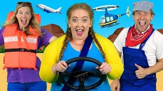 """""""Alphabet Transport"""" - ABC Transportation Song for Kids 