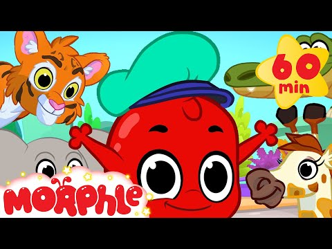 Morphle And The Zoo Animals 1 hour funny Morphle kids videos compilation