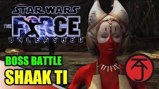 Star Wars: The Force Unleashed - BOSS BATTLE: STARKILLER VS SHAAK TI