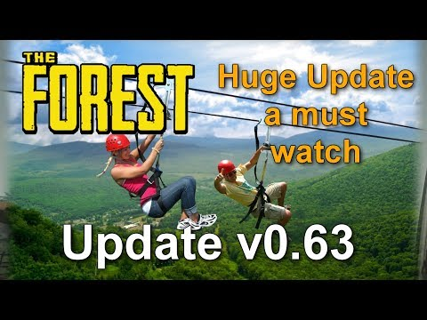The Forest - (Update V0.63 Alpha) Ziplines,Bird Boxes,elevator,crane,Fireplace and more