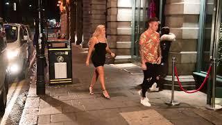 Geordie Shore arriving at nightclub in Newcastle filming for series 16