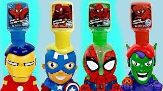 SUPERHERO Bath Paint Tub Time Toy Squirters, Bubbles, Spiderman Ironman Captain America IRL / TUYC