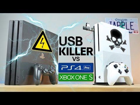 USB Killer vs PS4 Pro & Xbox One S Instant Death