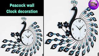 Diy Wall clock decoration/fashion pixies/wall decoration ideas  /Clock making ideas /craft ideas