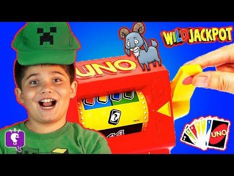 UNO WILD JACKPOT! Surprise Toy Family Gaming Fun Card Game HobbyKidsTV