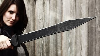 The Cold Steel Gladius Machete vs. A ZOMBIE!!!