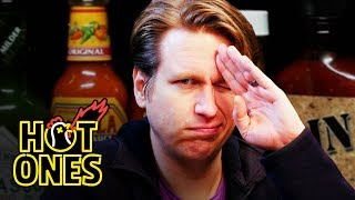 Pete Holmes Does Improv While Eating Spicy Wings   Hot Ones