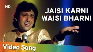 Jaisi Karni Waisi Bharni Title Song (HD) - Govinda - Kimi Katkar - Nitin Mukesh