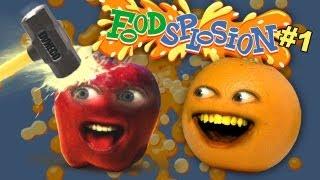 Apple vs Sledgehammer [Annoying Orange Foodsplosion #1]