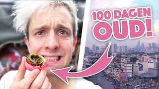 100 DAGEN OUD EI ETEN & OVERNACHTEN IN EEN TREIN ! 🤢 | Thailand Vlog 01