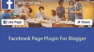 How to add Facebook Page Plugin to Blogger