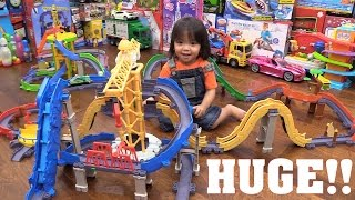 We Love Toy Trains! Chuggington Stacktrack Motorized Playsets Playtime + Motorcycle Ride