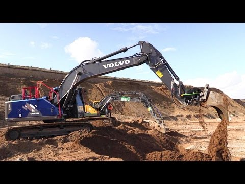 The Blue Volvo EC220E Special Ocean Race Edition Excavator With Tiltrotator Test Drive