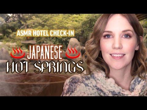 ASMR Hotel Check-In: Japanese Hot Springs