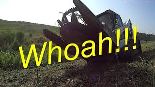 Amazing Lawn Mower in Action Cutting 4 Foot Tall Weeds and Grass