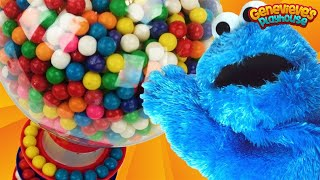 Learning Videos for Kids: Cookie Monster Teaches Toddlers Colors Gumballs Machine! 4K Movie!