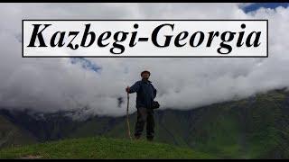 Georgia/Kazbegi (Climbing up to Gergeti Trinity Hill-1)  Part 29