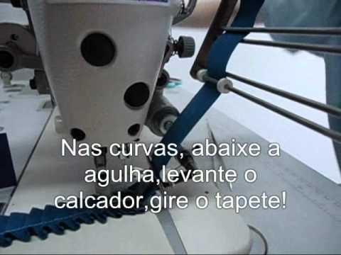 Tapete de frufru Tapeceira HR 3100 Aprenda a costurar tapete de pregas frufru.wmv