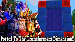 Minecraft How To Make A Portal To The Transformers Dimension - Transformers Dimension Showcase!!!