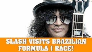 Guns N' Roses News: Slash Visits Brazilian Formula 1 (F1) Grand Prix Race (Interlagos Autodrome)
