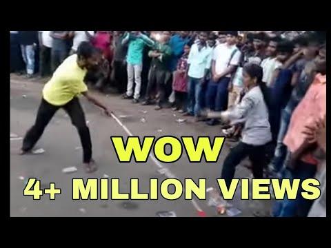 Jallikattu Protest Coimbatore VOC Park Silambattam Girl Vs Boy