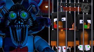 Minecraft FIVE NIGHTS AT FREDDYS - DONUT AND BABY MAX ARE TRAPPED IN THE FNAF BASEMENT !!