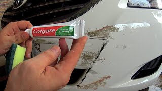 How to remove scratches from the car at home Using toothpaste - How to Fix scratches on car