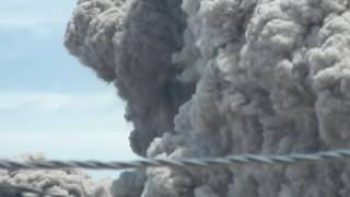 Eruption du volcan Sinabung Mai 2016