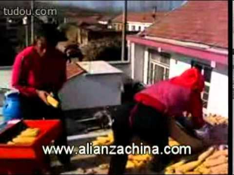 Maquina para raspar choclo maiz