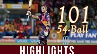 IPL 2016-RPS vs GL Match25 Steve Smith first T20 hundred(100)Rising Pune vs Gujarat Lions 2016#photo