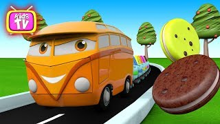 Colors for Children to Learn with bus for Kids, Car bus Videos for children