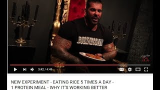 Is Rich Piana Eating One Protein Meal A Day Due To Possible Health Concerns?