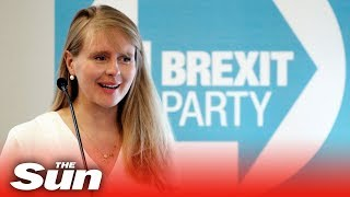 'Leave voters are afraid to talk politics' says Brexit Party's Lucy Harris