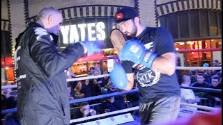 WAR FURY!! - HUGHIE FURY SMASHES THE PADS WITH FATHER & TRAINER PETER FURY / PARKER v FURY