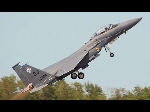 watch US Air Force MOST FEARED F 15 Take Off from Royal Air Force base
